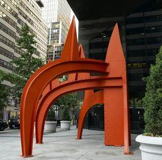 Alexander Calder. Saurien, 1975. steel plate, 18'4 x 16'8 x 16'8.