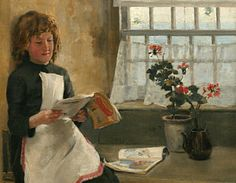 Reading Painting - Girl In A Cottage Window by Norman  Gratin Repinned by Ellery Adams www.elleryadamsmysteries.com