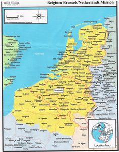 Day trips and overnight trips to most the towns shown in Germany and Belgium.
