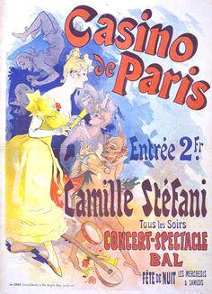 Casino de Paris poster - Affiche de Jules Chéret pour le Casino de Paris en 1891 — Wikipédia