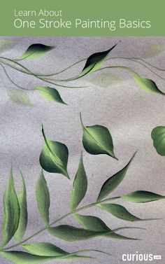 Artist April Numamoto demonstrates how to combine multiple colors on a brush to paint vines, one stroke leaves, double stroke leaves, ferns, and wiggle leaves.