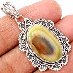 Imperial Jasper 925 Sterling Silver Pendant Jewelry IMPP469 - JJDesignerJewelry