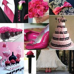 Whimsical Wedding Colors Deep Purple Hot Pink And