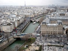 ...a little tour eiffel here, a little seine there and voila...you have paris....