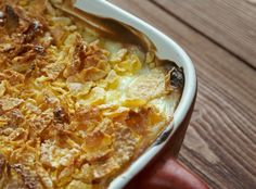 They May Be Called Funeral Potatoes, But This Dish Is The Life Of The Party! Can also sub cauliflower Potato Side Dishes, Vegetable Side Dishes, Vegetable Recipes, Side Dish Recipes, Great Recipes, Favorite Recipes, Funeral Potatoes, Casserole Recipes, Potato Casserole
