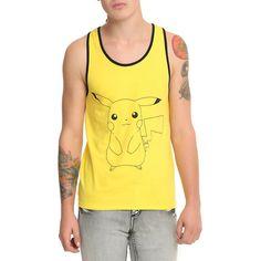 Pokemon Pikachu Tank Top Hot Topic ($12) via Polyvore featuring hot topic