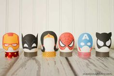 I whipped up these fun DIY Superhero Easter Eggs along with a free printable. My son went nuts! Hand Crafts For Kids, Easy Crafts, Hero Crafts, Create And Craft, Egg Decorating, Gnomes, Easter Eggs, Creations, Free Printable