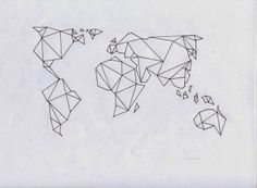 Origami style string art world map to be tested Tape Art, Washi Tape Wall, Masking Tape, Et Tattoo, Bicep Tattoo, Grafik Design, Future Tattoos, String Art, Tattoo Inspiration