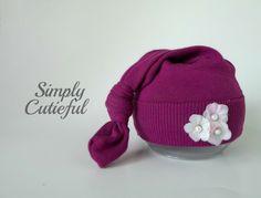 Upcycled Newborn Hat. Baby Hat. Girl Hat. Upcycled Photo Prop. Newborn Photo…