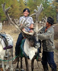 Riding a Reindeer - Mongolia