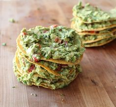 Loaded Guacamole Tostada Towers from Scarletta Bakes