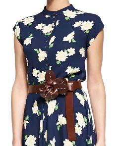 Prada Saffiano Oval Logo Belt, Women\u0026#39;s, Size: 80 cm / 32 in, Dark ...