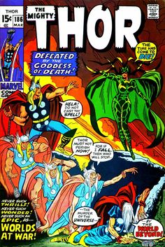 Thor n°186, March 1971, cover by John Buscema.  I've always thought this cover was so cool
