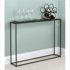 Narrow Hall Tables leick regatta blue coastal narrow hall stand/sofa table w/shelf