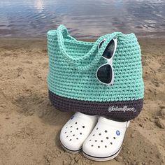 Diy Crochet Bag, Crochet Clutch, Crochet Handbags, Crochet Purses, Knit Crochet, Finger Knitting, Loom Knitting, Knitting Ideas, Diy Tote Bag