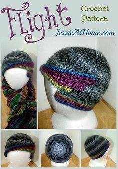Flight Hat Free Crochet Pattern by Jessie At Home