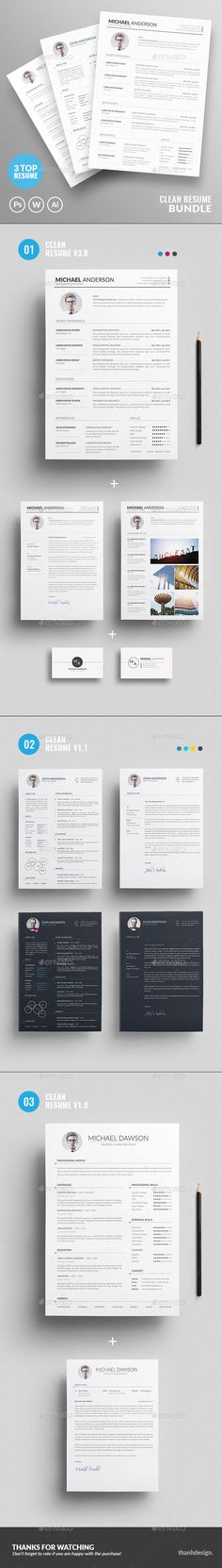 4-in-1 Executive Resume \ Cover Letter Templates for Designers - stylish resume templates