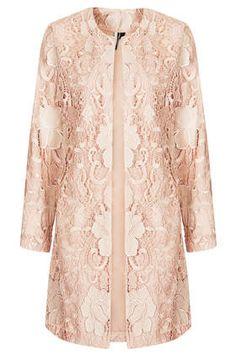 Lace Overlay Coat