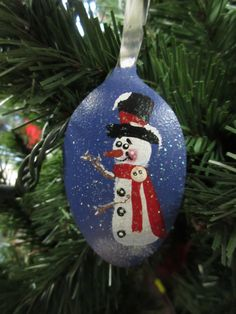 Altered Hand Painted Spoon Ornament by humblehrtdesigns on Etsy