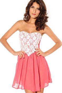 abaday Off Shoulder Lace Panel Full Dress - Fashion Clothing, Latest Street Fashion At Abaday.com