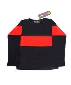 Blue & Red Cotton Basic T-Shirt  #ohnineone #kids
