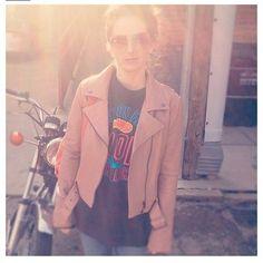 The lovely @sloanerangerotr rocking her Julian jacket. #babesinveda