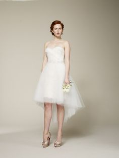 Marchesa Spring 2013 Bridal Collection | Tom & Lorenzo...such a cute high-low look