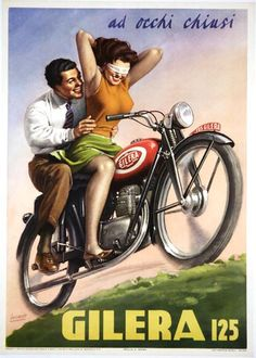 Gilera 125 ad - They say texting while driving is dangerous!