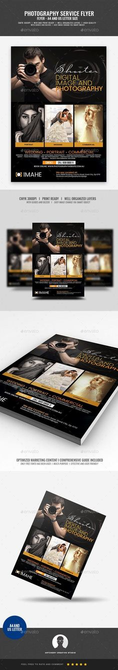 Buy Photographer Promotional Campaign Flyer by Artchery on GraphicRiver. Photographer Promotional Campaign Flyer Design Template Boost your company's sales and attract new customers! Photography Services, Event Photography, Family Photography, Landscape Photography, Business Flyer Templates, Flyer Design Templates, Print Templates, Creative Comments, Beauty Camera