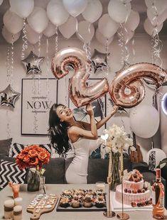 Pink birthday number balloon with white balloons – – Rosa Geburtstag Nummer Ballon mit weißen Luftballons – – Birthday Goals, 26th Birthday, Birthday Numbers, Pink Birthday, Birthday Party Themes, 25th Birthday Ideas For Her, Cake Birthday, Birthday Party Ideas For Adults, Number Balloons Birthday