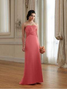 Satin Softly Curved Neckline Pleated Bodice A-line Bridesmaids Dress
