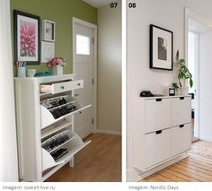 ikea hemnes shoe cabinet round mirror good for dark living room decor i adore pinterest. Black Bedroom Furniture Sets. Home Design Ideas