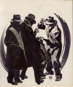Alex Toth Gangsters inked