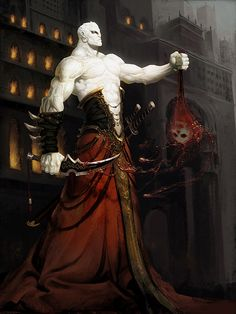 Artist: Ji Bae Park aka parkzb - Title: emperor of darkness reg - Card: Zacharias, Gold Devil King