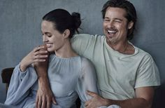 Brad Pitt and Angelina Jolie Pitt, photographed by Peter Lindbergh for Vanity Fair Italia, Nov