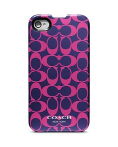 COACH Signature iPhone 4 Case