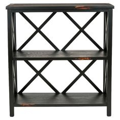 Pine wood etagere with open criss-cross panels.     Product: EtagereConstruction Material: Pine woodColor:...