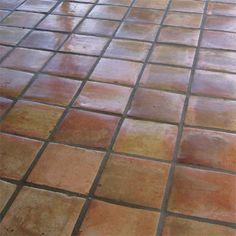 Clay tile floors