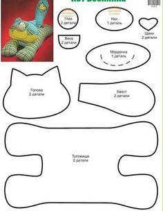 gatos en tela manualidades - Buscar con Google