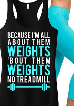 """Bad Ass #Workout Tank! """"All About Them Weights"""" #Gym tank top by NoBullWoman Apparel. Only $24.99, click here to buy http://nobullwoman-apparel.com/collections/fitness-tanks-workout-shirts/products/all-about-them-weights-black-with-teal-tank... I dig it!"""