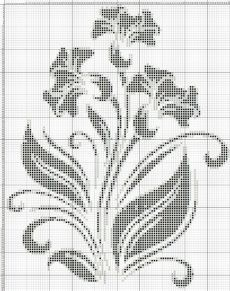 This Pin was discovered by SabBeginning Cross Stitch Embroidery Tips - Embroidery PatternsCrochet on Stylowi. Cross Stitch Borders, Cross Stitch Flowers, Cross Stitch Charts, Cross Stitch Designs, Cross Stitching, Cross Stitch Embroidery, Cross Stitch Patterns, Filet Crochet Charts, Crochet Cross