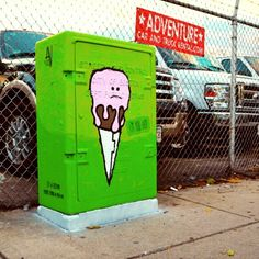 Finished painting my #allston utility box near the post office on #harvard Ave! by monkey_chow, via Flickr