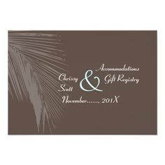 This DealsPixDezines palm fronds silhouette/cocoa+blue/hotel Personalized InviteWe provide you all shopping site and all informations in our go to store link. You will see low prices on