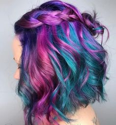 ideas for middle aged woman ideas for evening ideas over 50 hairstyle ideas african american ideas layers hairstyle ideas ideas for short hair collection ideas Vivid Hair Color, Cute Hair Colors, Pretty Hair Color, Bright Hair Colors, Hair Color Purple, Hair Dye Colors, Ombre Colour, Violett Hair, Unicorn Hair Color