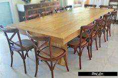 Stof Lar Decorações - Móveis em Madeira de Demolição : Mesa Modelo Caixa + 12 Cadeiras Paris