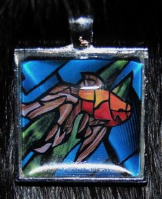 Goldfish Pendant by KabloonaKreations on Etsy, $18.00