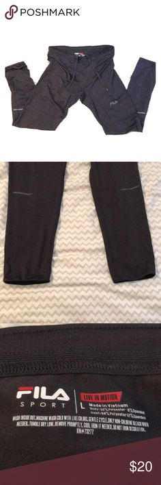 Men's large running tights— Fila— new without tags Men's size large Fila running tights. Compression tights for running. Price normally $30. Black color Fila Pants