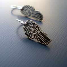 Tiny Silver Wings by Lisa Hopkins Design ...if I had my ears pierced...