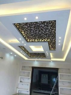 6 Spiritual Cool Tips: False Ceiling Design For Showroom false ceiling hall benches.False Ceiling Ideas Projects false ceiling with wood lighting.False Ceiling Design For Balcony. Gypsum Ceiling Design, House Ceiling Design, Ceiling Design Living Room, Bedroom False Ceiling Design, Ceiling Decor, Ceiling Lights, Fall Ceiling Designs Bedroom, Ceiling Plan, Ceiling Beams