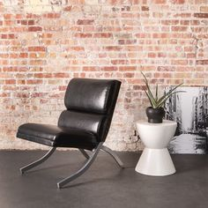 Rialto Black Bonded Leather Chair   Overstock.com Shopping - The Best Deals on Living Room Chairs
